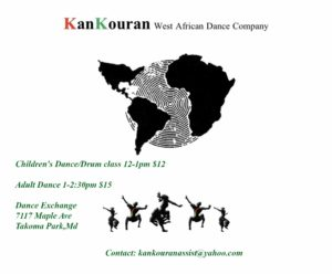 Kankouran West African Dance Company Dance Classes